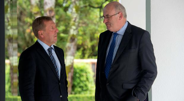 The Minister for Agriculture Michael Creed and EU Agriculture Commissioner Phil Hogan. Pic Michael Mac Sweeeney/Provision