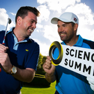 Getting in the swing for the Science Summit: Oreeco CEO Dr. Brian Moore with Padraig Harrington