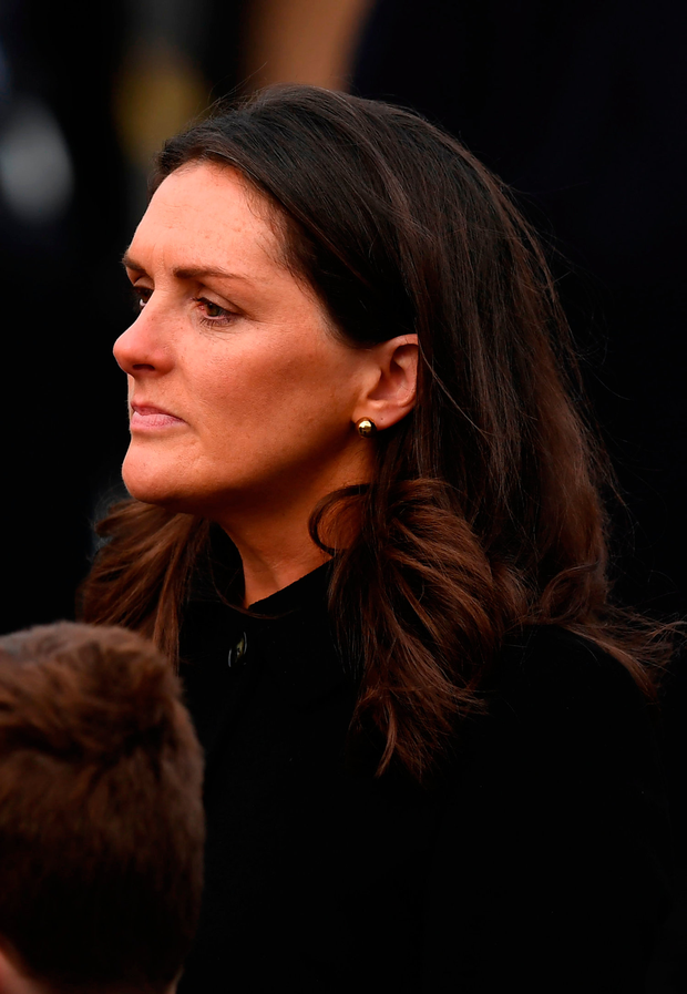 Olive Foley at her husband's funeral Photo by Stephen McCarthy/Sportsfile