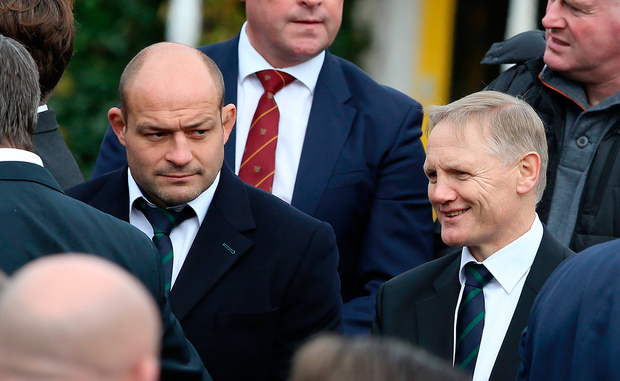Ulster's Rory Best and Ireland coach Joe Schmidt Picture: Frank McGrath