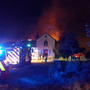 Dublin Fire Brigade tackle the blaze: Picture: Twitter