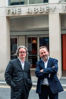 Graham McLaren (left) and Neil Murray prepare to take the helm at the Abbey Theatre