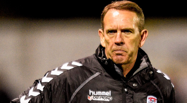 Kenny Shiels' Derry City side battled to a 2-1 away victory over Sligo Rovers to secure third place in the Airtricity League Premier Division. Photo: Sportsfile