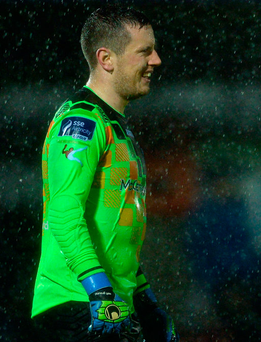 Finn Harps goalkeeper Ciaran Gallagher saved the day for his side with a number of top class stops in their league clash with Wexford Youths. Photo: Sportsfile