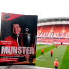 A view of the match programme before the European Rugby Champions Cup between Munster and Glasgow Warriors at Thomond Park