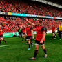CJ Stander of Munster acknowledges the supporters
