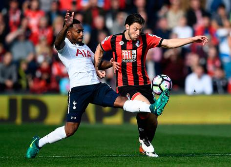 Tottenham's Danny Rose in action with Bournemouth's Harry Arter Reuters / Dylan Martinez