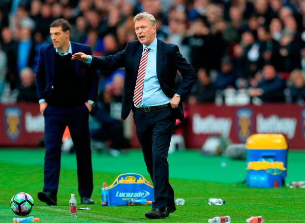 Sunderland manager David Moyes gestures on the touchline