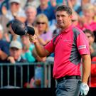 Padraig Harrington acknowledges the crowd