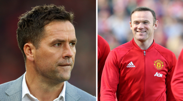 Wayne Rooney was quick to reply to Michael Owen's Liverpool tweet CREDIT: GETTY IMAGES