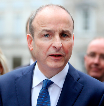 43pc of those polled expressed satisfaction with Fianna Fail leader Micheal Martin's performance Photo: Gerry Mooney