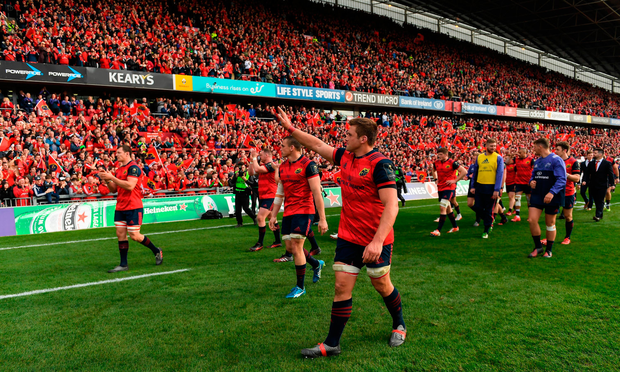 CJ Stander acknowledges the supporters at the end of the match Photo: Sportsfile