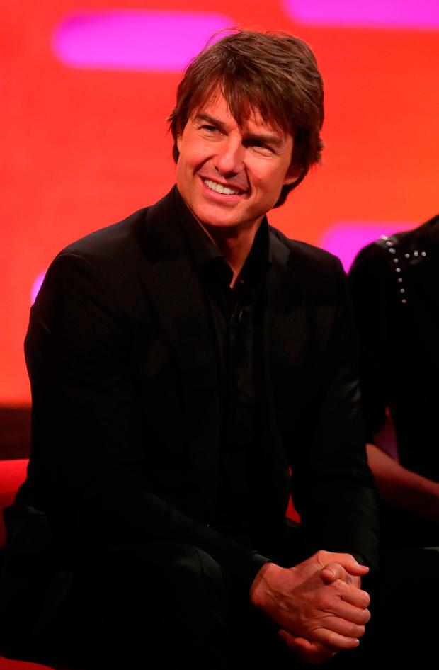 Tom Cruise during filming of the Graham Norton Show