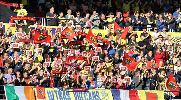 Clermont fans paid homage to Anthony Foley yesterday