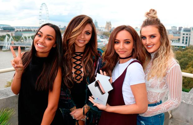 Little Mix with their Official Number 1 Award for new single Shout Out To My Ex. copyright holder.