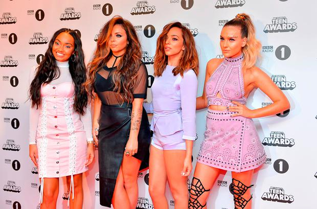 (left to right) Leigh Anne Pinnock, Jesy Nelson, Jade Thirlwall and Perrie Edwards of Little Mix attending the BBC Radio 1 Teen Awards, held at the SSE Wembley Arena in London