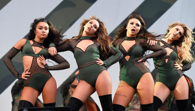 Leigh-Anne Pinnock, Jade Thirlwall, Jesy Nelson and Perri Edwards of 'Little Mix' perform during the V Festival at Hylands Park on August 21, 2016 in Chelmsford, England. (Photo by Stuart C. Wilson/Getty Images)