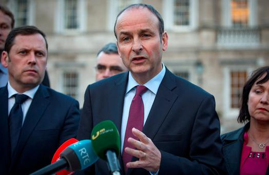 Micheál Martin: Campaigners 'making it up as they go along'. Photo: Arthur Carron