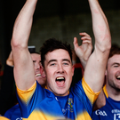 Patrickswell's Diarmaid Byrnes celebrates with the cup Photo: Diarmuid Greene/Sportsfile