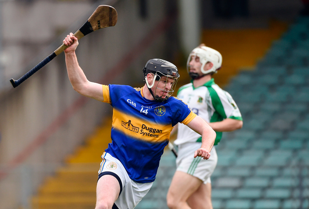 Patrickswell's Kevin O'Brien after scoring his side's first goal Photo: Diarmuid Greene / Sportsfile