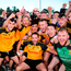 Ramor players celebrate their Cavan county title Photo: Sam Barnes/Sportsfile