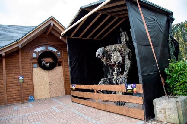 The House of Horrors attraction at Tayto Park in Ashbourne, Co Meath, was closed yesterday. Photo: Fergal Phillips