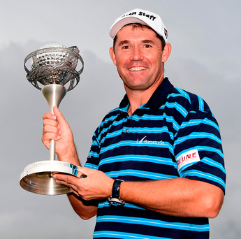Padraig Harrington with the trophy following his victory at the Portugal Masters Photo: Stuart Franklin/Getty Images