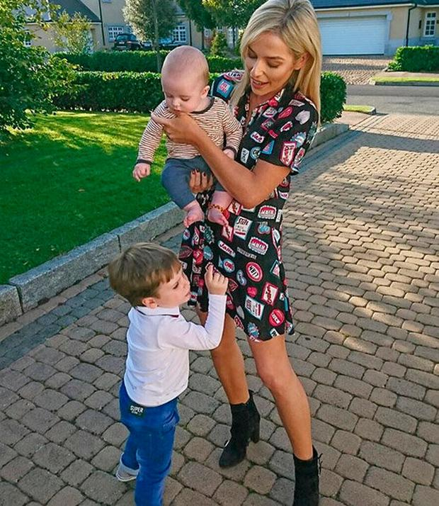 Pippa O'Connor with sons Ollie and Louis