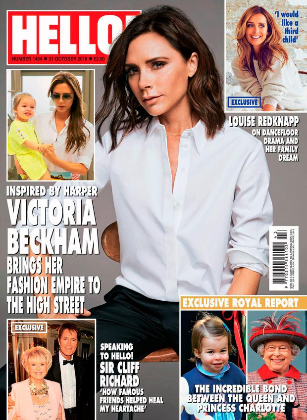 The front cover of the latest edition of Hello! magazine. Picture: Hello! Magazine/PA Wire