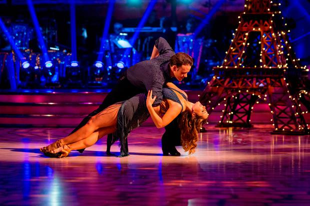 Kevin Clifton and Louise Redknapp during Saturday's live edition of the BBC1 show, Strictly Come Dancing.