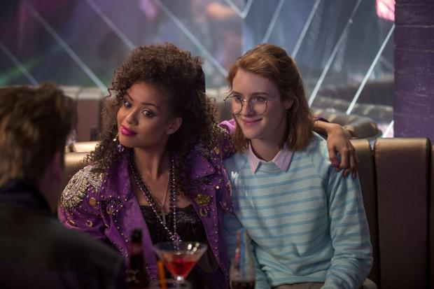 Mackenzie Davis, on left, and Gugu Mbatha-Raw in San Junipero, the best of the new Black Mirror episodes