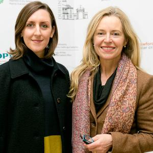 Louise Ward & Christina Kennedy at the The Crawford at the Castle exhibition opening at Dublin Castle. Picture: Chris Bellew / Copyright Fennell Photography 2016