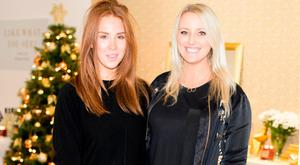 Catriona Gallagher and Suzanne Cairns pictured at the Dealz Christmas Press Show 2016 at the RHA Gallery. Picture: Andres Poveda