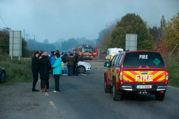 Scene of the fire at Tippo in Nenagh, Co Tipperary (Photo: Kyran O'Brien)