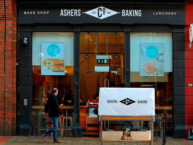 Ashers bakery on Royal Avenue in Belfast, as judgment is due to be delivered on an appeal brought by Christian bakers who were found to have discriminated against a gay man. Photo: Brian Lawless/PA Wire