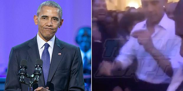 Obama and Usher dance to Drake's Hotline Bling in the White House