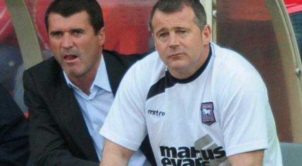 Roy Keane and Ian McParland during their time at Ipswich Town