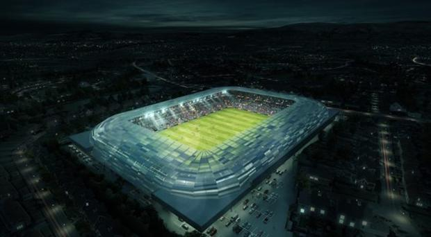 The proposed new Casement Park would have a capacity of 34,500.
