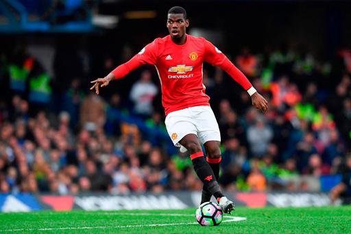 Manchester United's French midfielder Paul Pogba