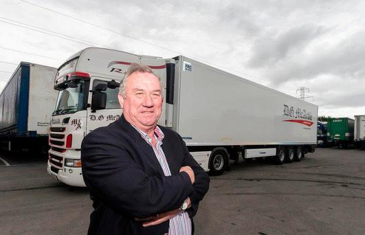 Gerry McArdle, who runs DG McArdle Transport with his son