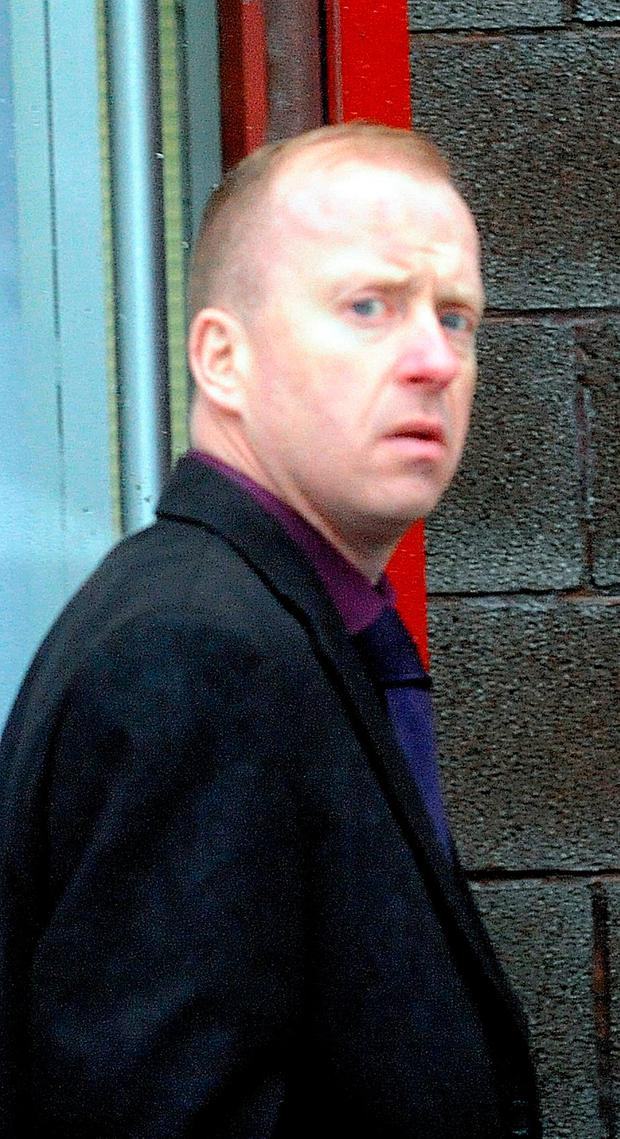 Drink-driver Finbarr O'Rourke, who crashed into Gillian and her son Ciarán (above left), killing the boy Photo: James Flynn/APX