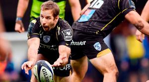 Tomas O'Leary in action for Montpellier against Leinster on Sunday