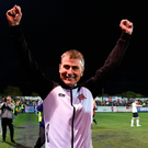 Retaining Dundalk's league title was always the focus for Stephen Kenny Photo: Paul Mohan/Sportsfile