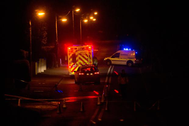 The scene of a fatal crash on the Skerries to Loughshinny road early this morning. Pic:Mark Condren