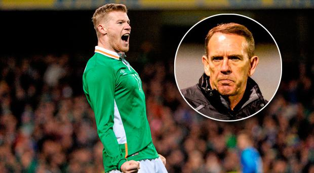 James McClean is not happy with Derry City boss Kenny Shiels