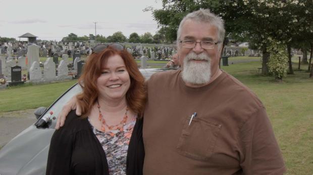 Patrick and Roxanne Farrington are tracing his biological family in Ireland