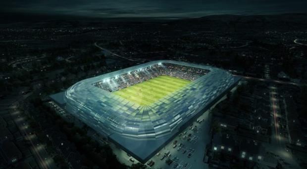 An artist's impression of the redeveloped Casement Park