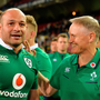 Joe Schmidt congratulates Rory Best after the win over South Africa