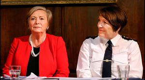 Problems to address: Justice Minister Frances Fitzgerald and Garda Commissioner Noirin O'Sullivan. Photo: Steve Humphreys