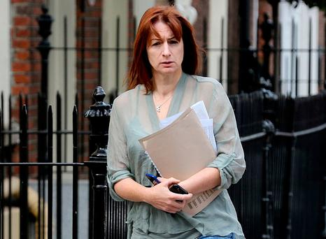 Clare Daly at Leinster House. Photo: Tom Burke